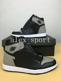 Wholesale Boxing Medal - New 1 High OG Game Royal Banned Shadow Bred Toe Basketball Shoes Men 1s Shattered Backboard Silver Medal Sneakers High Quality With Box