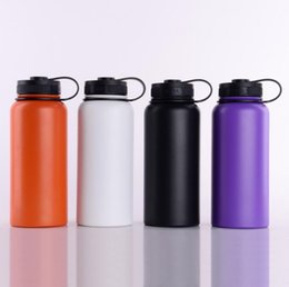 Wholesale Stainless Steel Vacuum Travel Bottle - 32oz 40oz Vacuum water bottle Insulated 304 Stainless Steel Water Bottle Wide Mouth big capacity travel water bottles