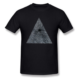 Wholesale Blue Hex - Latest Men 100% Cotton Hex Pyramid T-Shirts Men O Neck White Short Sleeve Tee 4XL Custom T-Shirts