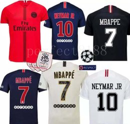 f7bccaf39f0 2018 new Paris Saint Germain PSG Soccer Jersey 19 18 7 Mbappe 6 Verratti 9  Cavani 32 DANI ALVES 10 11 DI MARIA 2 T SILVA Football Shirts