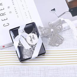 Argent de baptême en Ligne-Silver Angel Bookmark pour le baptême Souvenirs de fête de naissance Baptême Cadeau cadeau cadeaux de mariage pour l'invité