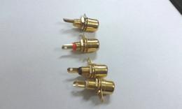 rca mount Promotion 100 pcs RCA Phono Châssis Montage sur panneau Prise femelle Adaptateur en métal plaqué or