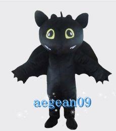 Wholesale fancy dress dragon - New Adult Black Dragon Mascot Costume Fancy Dress Hot Sale Party costume Free Ship