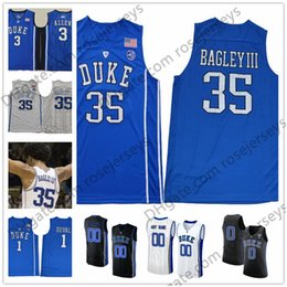 3ca0432a6c37 1 elite stitched duke blue devils authentic mens white college basketball  jersey  duke blue devils 1 trevon duval 3 grayson allen 35 marvin bagley  iii black ...