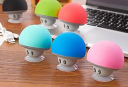 Wholesale bluetooth mushroom - Mushroom Bluetooth Speaker Car Speakers with Sucker Mini Portable Wireless Handsfree Subwoofer 50pcs