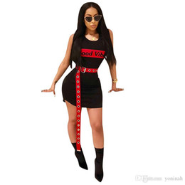 Сексуальные клубные рубашки бесплатная доставка онлайн-Оптовая Бесплатная доставка письмо печатных хлопок Sexy Party Dress женщины рукавов шею футболка Dress лето мини-клуб Vestidos