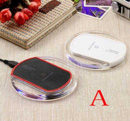 Wholesale portable charger price - original Qi wireless charger portable fantasy crystal LED Wireless Adapter charging for iPhone X 8 Plus Samsung S8 Plus Note8 best price