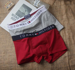 Wholesale High Corner - 2018 new arrive: tide brand tom & hilfi High elasticity men's underwear, kanye cotton men's underwear Four corners briefs Flat briefs