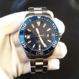 Wholesale Calibre Band - Top Selling Luxury Calibre Watch Stainless Steel Band Automatic Mechanical Diving Sport Mens Men's Watch Watches