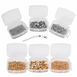 Wholesale Jewlery Silver Rings - Silver Gold 3 Box Lobster Clasps Open Jump Rings Extension Chains Clips Plastic Box Set DIY Hand Craft Jewlery Making Free DHL D820L