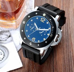 Wholesale good mens watches - hot good rubber belt man silver case automatic cheap sport wholesale luxury fashion men watch brand new Stainless steel mens watches