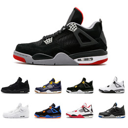 promo code 0ef63 c258c 2018 Jordan retro Großhandel 4 Pure Money Basketball Schuhe Herren 4 s BRED  Lizenz Weiß CAVS Ore Cement Sport Turnschuhe Motorsport Outdoor Sports  Sneakers ...
