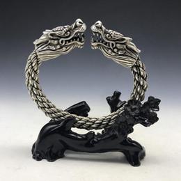 velho miao prata Desconto Pulseira de dragão de prata Miao chinês Handwork maravilhoso