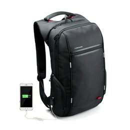 Wholesale 17 Laptop Computer Bag - Wholesale- 15 17 inch Women Men Laptop Backpack External USB Functional Computer Notebook Bag Anti-theft Business Bag Travel Women Backpack
