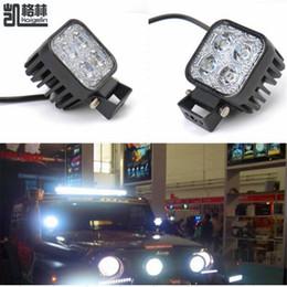 12v levou luzes de neblina motocicleta Desconto 2 PCS 12 W Car Offroad LED Light Bar para Jeep 4x4 4WD SUV ATV ATV Golf Cart 12 v 24 v Lâmpada de Condução Motocicleta Nevoeiro luz