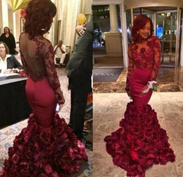 Rose Mermaid Prom Dress