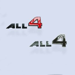 Adesivo mini emblema del bottaio online-All 4 Side Emblem Decal Sticker Metallo ALL4 Logo posteriore Badge per MINI Cooper Countryman Clubman R50 R52 R53 R55 R56 R60 F54 F55 F56