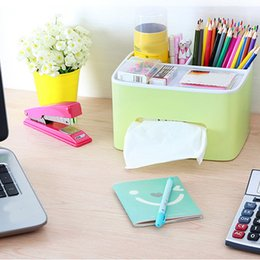 Wholesale waterproof paper holder - Behokic Desktop Storage Tissue Box Holder Case Container Waterproof Home Office Bathroom Desk Organizer Napkin Paper Towel
