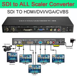 Wholesale Sdi Box - SDI to all Scaler Converter allows SD HD and 3G-SDI signals to be shownon HDMI DVI VGA Composite port display