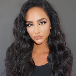 Wholesale Wigs For Women Malaysia - Full Lace Human Hair Wigs For Black Women with Baby Hair Pre-Plucked Malaysia Body Wave Remy Hair Natural Color Wig