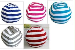 Wholesale portable vaccum - Kids Storage Bean Bags Storage Stuffed Animal Buggy bag Chair Portable Kids Toy Creative Storage Bag & Play Mat Clothes Organizer 5 Color