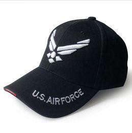US Air Force brodé lettres casquettes tactiques casquette de baseball hommes casquette de l'armée de plein air chapeau de sport snapback cap KKA4874 ? partir de fabricateur