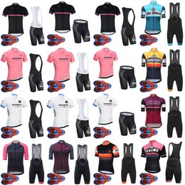 Wholesale italy cycling bib - TOUR DE ITALY team Cycling Short Sleeves jersey (bib) shorts sets High Quality summer Bike Wear Quick Dry Bicycle Clothing D1706