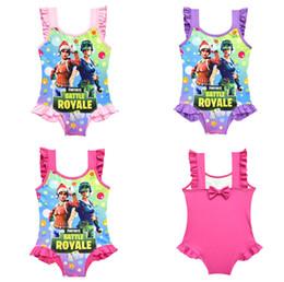 un jeu d'anime Promotion 3 couleurs Jeu Maillots de bain Fortnite impression enfants Maillots de bain 2018 été One-Pieces bébé filles Cosplay Maillot de bain dessin animé Bikinis T1G111