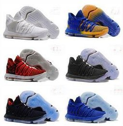 Wholesale Cheaper Basketball Shoes - Cheaper 2017 Kevin Durant 10 Basketball Shoes Men High Quality KD 10 Training Sneakers KD10 Athletic Shoes Size 7-12