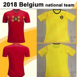 2018 World Cup Belgium DE BRUYNE E.HAZARD Soccer Jerseys LUKAKU KOMPANY  FELLAINI Home Away Football Shirts National Team MERTENS Mens Jersey 965d1064f