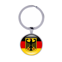 Wholesale Germany Coat - Coat of arms of Keychain Germany Austria Poland Czech Republic Country Flags Ker rings Men Women Jewelry Car Key holder Wholesale