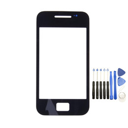 Wholesale S3 White Screen Replacement - 50PCS Front Outer Touch Screen Glass Replacement for Samsung Galaxy s5830 Black White with Tools free DHL