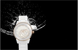 Wholesale woman ch - TOP Luxury Brand CH Lady White Black Ceramic Classics Camellia Watches Quartz Wristwatches For Women Fashion Exquisite Women Watches