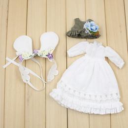 2019 белые платья из детской куклы Ограниченные аксессуары для Blyth куклы для Белый Кролик волос платье элегантный BJD куклы одежда для девочек игрушки дешево белые платья из детской куклы