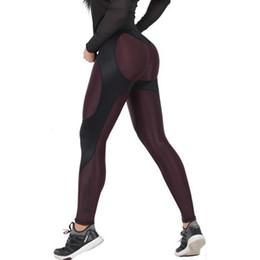 calças de poliéster brilhantes Desconto 2017 Novo Patchwork Mulheres Leggings de Fitness Cintura Alta Treino Sporting Mulheres Leggings Push Up Calças de Emagrecimento Lápis Feminino Calças