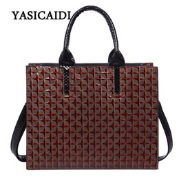 Wholesale Women Shoulder Bags For Work - Brand Women Handbag Pu Leather Tote Bag for Work Briefcase Luxury Designer Embossed Leather Top-handle Shoulder Bag