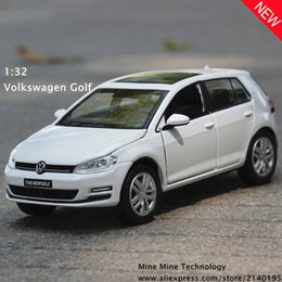 Wholesale Volkswagen Models - Double Horse 1:32 free shipping Volkswagen golf Alloy Diecast Car Model Pull Back Toy Car model Electronic Car with Kid Toy Gift