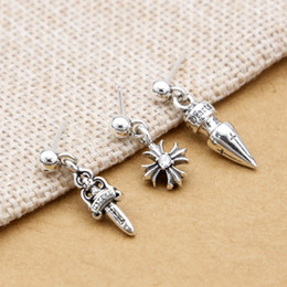 New 925 Sterling Silber Modeschmuck Marke Designer Ohrring American Europe Vintage-Stil Kreuz Ohrstecker für Frauen von Fabrikanten