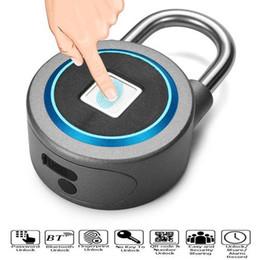 2019 selección de bloqueo automático de dos caras Candado inteligente Cerradura electrónica Almacén Puerta Puerta Cerradura de la puerta Dormitorio del gabinete Dormitorio Bluetooth Candado de huellas dactilares en el envío libre
