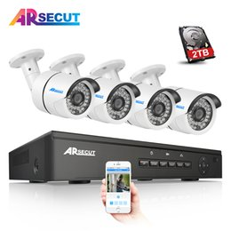Wholesale Security Camera System Poe Outdoor - Plug And Play 48V 4CH NVR POE Video Surveillance Security System Onvif 1080P 4pcs HD 36 IR Outdoor POE IP Camera CCTV Kit