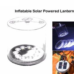 luz led inflável Desconto Inflável Luz Solar Recarregável À Prova D 'Água Solar LED Lanterna Luzes Para Camping Caminhadas Ciclismo Survival Lâmpada De Emergência