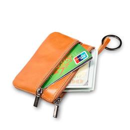 2019 teléfono celular británico Mini monedero de cuero de múltiples funciones mini paquete de tarjeta Vintage Euro zip llave de monedas corto estilo de bolso personalizado
