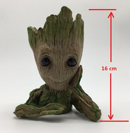 Wholesale baby business - Guardians of The Galaxy Vol Baby Groot Figure Flowerpot Pen Pot Model Toy Best Christmas Gift High 16cm