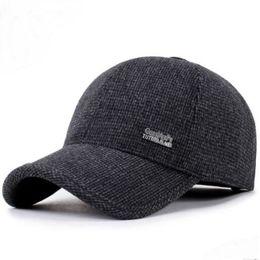 Nueva gorra de moda para hombre gorras de béisbol hombre de otoño e invierno  gorro de pelo para hombre viejo 45977df2374