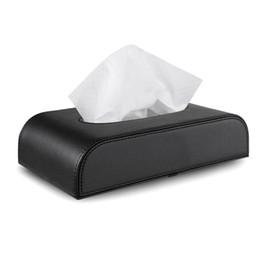 черные блоки Скидка Горячие продажи стайлинга автомобилей кожа ткань бумажная коробка для дома автомобиль ткани мешок держатель Box дело тип блока высокое качество-черный