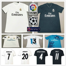Wholesale bale real madrid - 2018 2019 Real Madrid Soccer Jersey 10 MODRIC RONALDO BALE ISCO ASENSIO KROOS RAMOS VARANE MARCELO Custom Home Away 18 19 Football Shirt