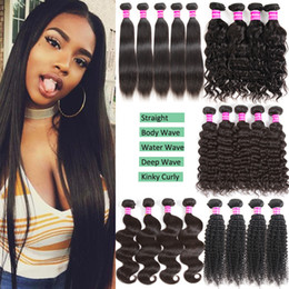 Wholesale cheap human hair bundle deals - Brazilian Virgin Human Hair Bundles Body Wave Deep Wave Kinky Curly Cheap Remy Human Hair Extensions Unprocessed Virgin Hair Bundle Deals