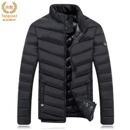 Chaquetas impermeables frescas online-Tang cool 2018 Invierno a prueba de viento Parkas Solid Fashion Design Down algodón espesa chaqueta cálida tamaño asiático XXXL
