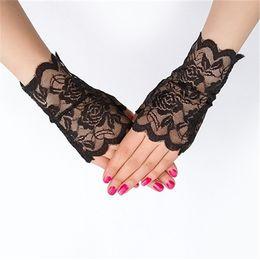 Сексуальные перчатки моды онлайн-женские солнцезащитный крем короткие перчатки мода sexy fingerless кружева вождения перчатки весна и лето кружева перчатки