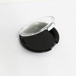 Boîte transparente en plastique en Ligne-Caisse cosmétique en plastique de la poudre 15G, chapeau transparent de boîte d'emballage cosmétique de fard à paupières vide avec le fond noir F20173650